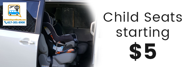 child seat car services in boston